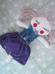 My much-loved, slightly worn around the edges, hand made ragdoll.  Think I was about 9 or 10 when I made this.