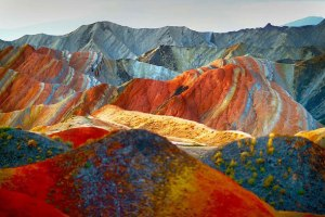 colourful mountains china