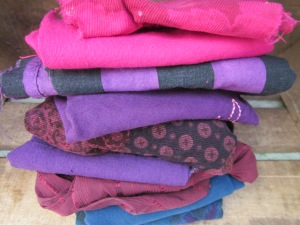 Love how the original colour comes through the new shades of dye.  Can't wait to get started on this lovely lot!