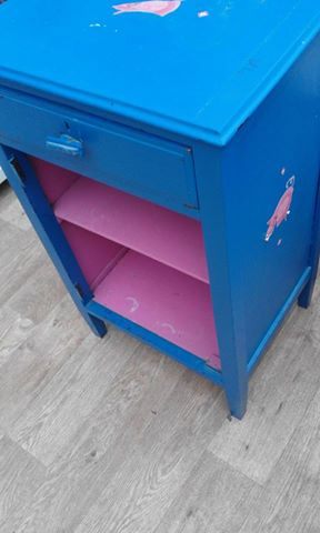 Blue and pink nursery storage