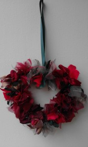 Christmas Warmth rag wreath