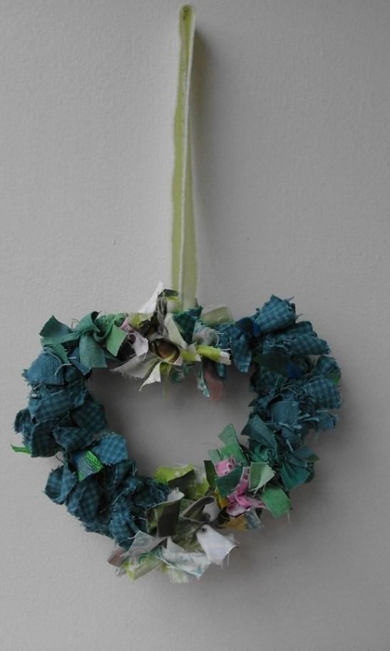 Rustic Charm rag wreath